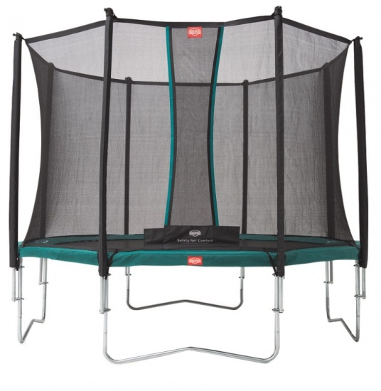BERG Trampoline Favorit met Safety net Comfort 380 cm groen
