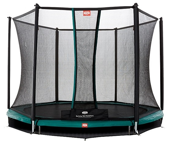 BERG Trampoline Talent Inground met safety net 180 cm groen