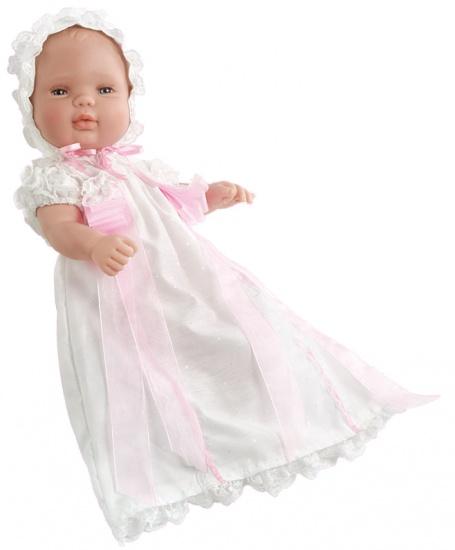 Berjuan Baby Smile Pop in Doopkleed 30 cm Wit