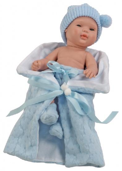 Berjuan Baby Smile Pop met Dekentje 30 cm Blauw