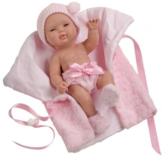 Berjuan Baby Smile Pop met Dekentje 30 cm Roze
