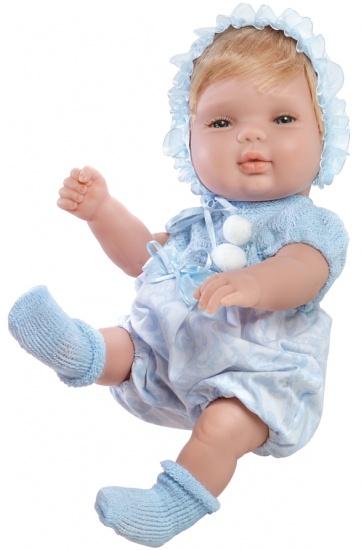 Berjuan Baby Smile Pop met Kleertjes 30 cm Blauw