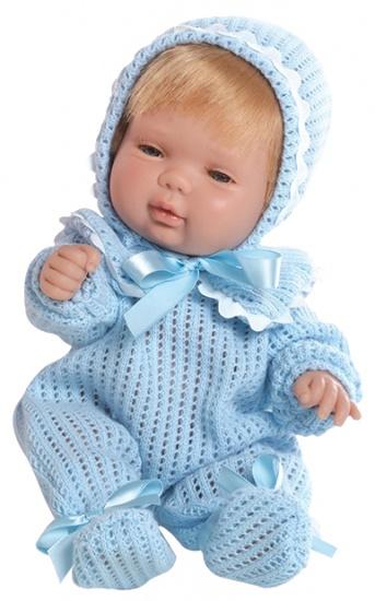 Berjuan Baby Smile Pop met Pyjama 30 cm Blauw