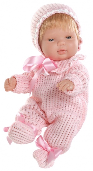 Berjuan Baby Smile Pop met Pyjama 30 cm Roze