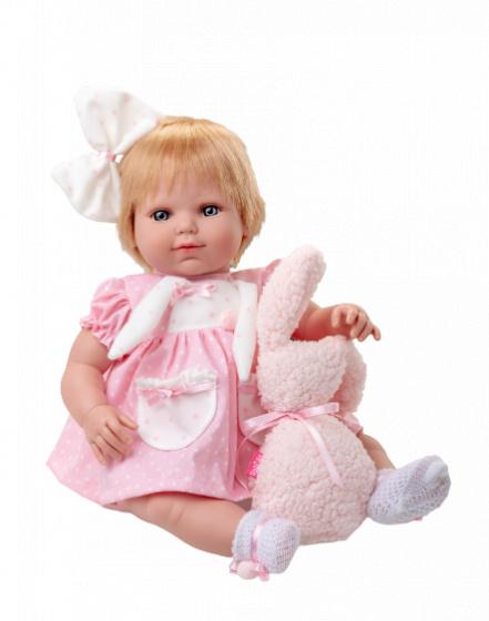 Berjuan babypop Baby Sweet junior vinyl roze-wit