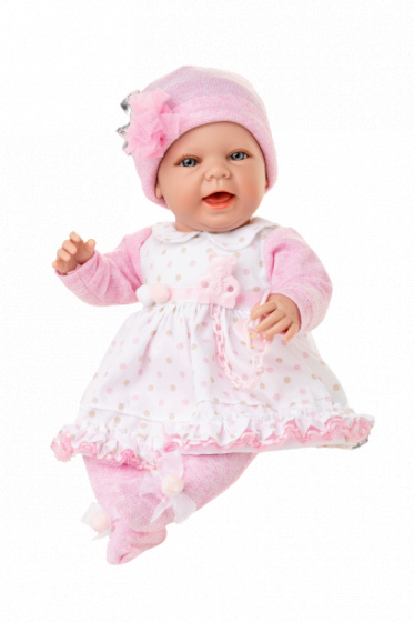 Berjuan babypop Baby Sweet junior vinyl wit-roze