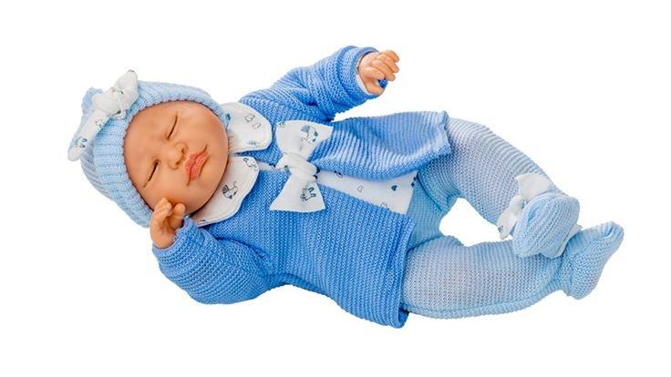 Berjuan babypop Dormilon 40 cm blauw