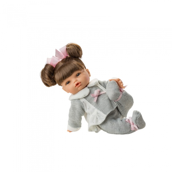 Berjuan babypop Grande 32 cm grijs