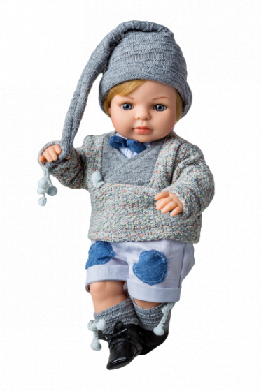 Berjuan babypop Laura junior wol grijs
