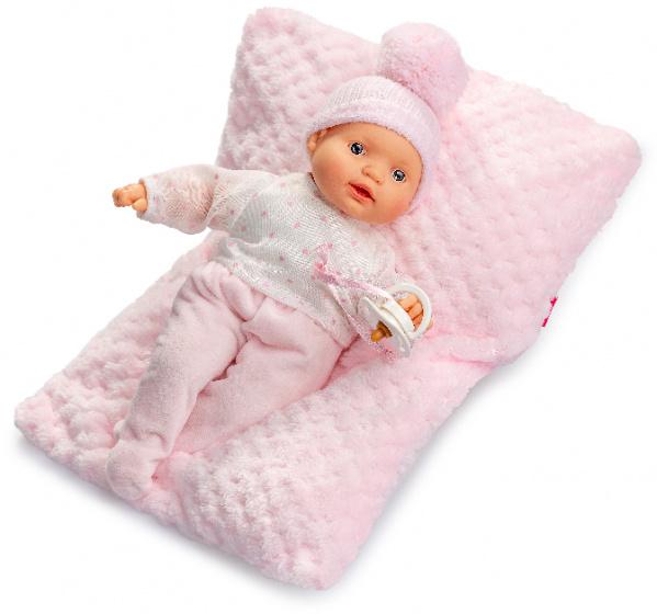 Berjuan babypop Lloroncete 28 cm meisjes roze