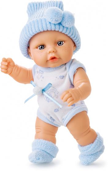 Berjuan babypop Mini Baby 20 cm meisjes blauw