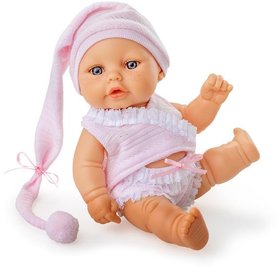 Berjuan babypop Mini Baby 20 cm meisjes lichtroze