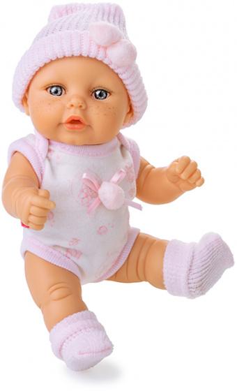 Berjuan babypop Mini Baby 20 cm meisjes roze