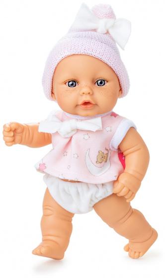 Berjuan babypop Mini Baby 20 cm meisjes wit-roze