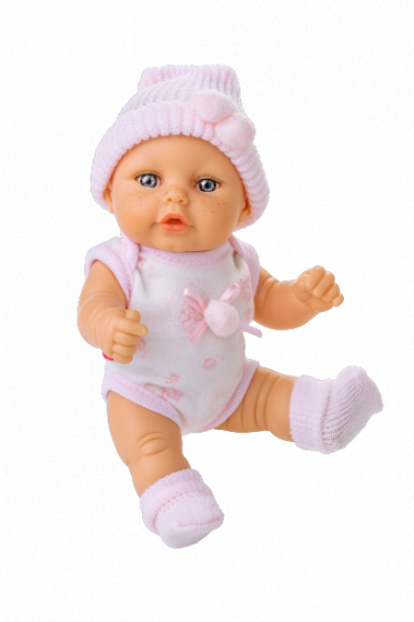 Berjuan babypop Mini Baby textiel roze