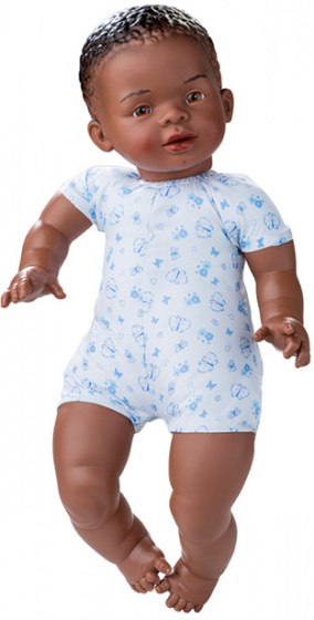 Berjuan babypop Newborn soft body Afrikaans 45 cm jongen