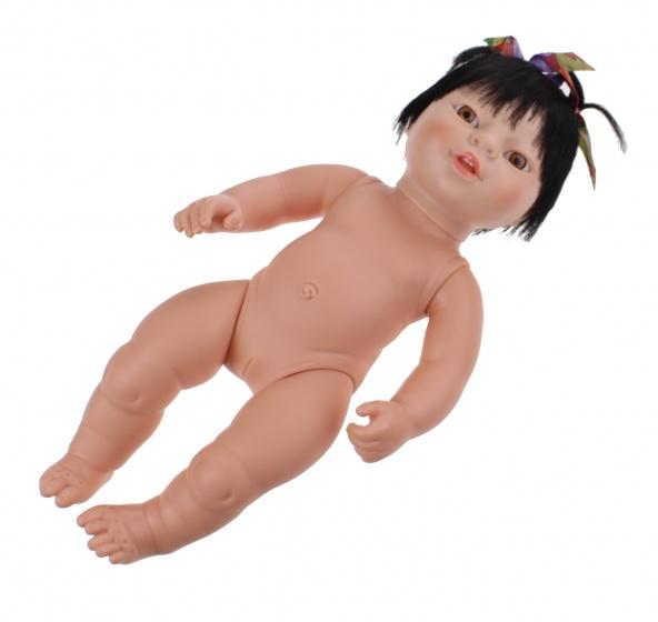 Berjuan babypop zonder kleren Newborn Aziatisch 38 cm meisje