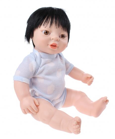 Berjuan babypop Newborn met romper Aziatisch 38 cm jongen