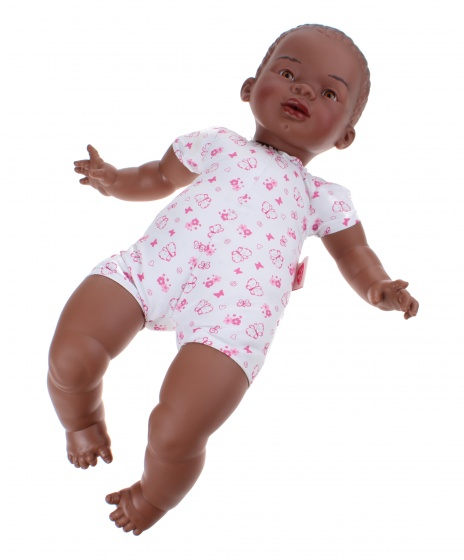 Berjuan babypop Newborn soft body Afrikaans 45 cm meisje
