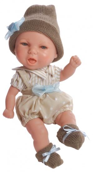 Berjuan Mini Baby Pop Met Muts en Kast Bruin