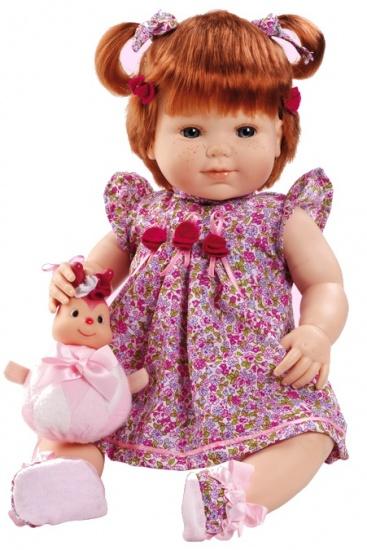 Berjuan Pop Baby Sweet 50 cm rood/roze