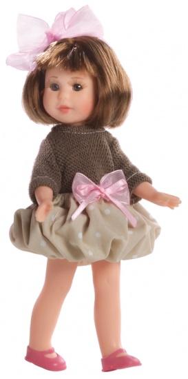 Berjuan Pop Irene met Kast en Kleren 22 cm Bruin