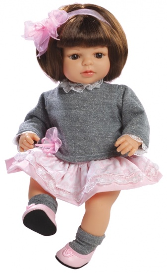 Berjuan Pop Laura 40 cm Grijs / Roze