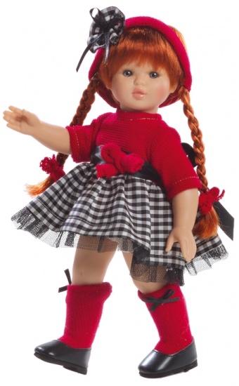 Berjuan Pop Sofia 32 cm Rood / Zwart