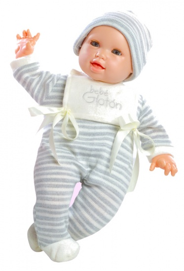 Berjuan Pop The Breast Milk Baby 50 cm grijs/wit