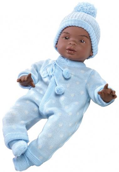 Berjuan Pop The Breast Milk Baby Jeremiah 50 cm blauw
