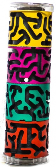 Bertikal Bertikal doolhofpuzzel cilindervorm multicolor