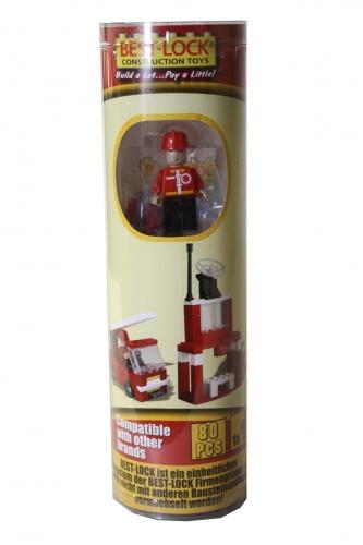 Best Lock Constructiespeelgoed 80 Delig Brandweer Kazerne