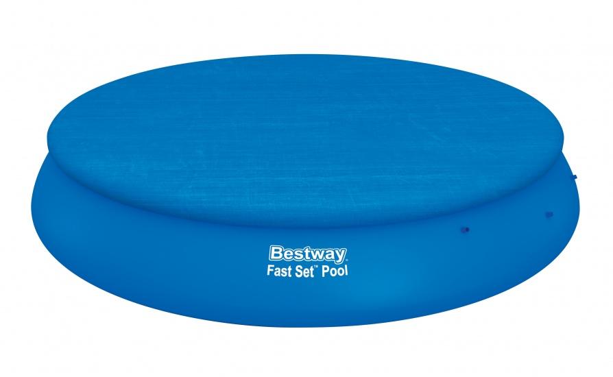 Bestway Afdekzeil 457 cm Rond Blauw