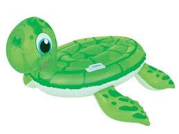 Bestway Opblaasbare Schildpad Ride On Groen 140 x 140 cm