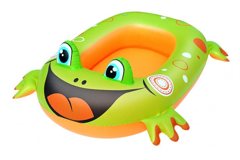 Bestway Opblaasboot Kikker 99 x 66 cm Groen/Oranje