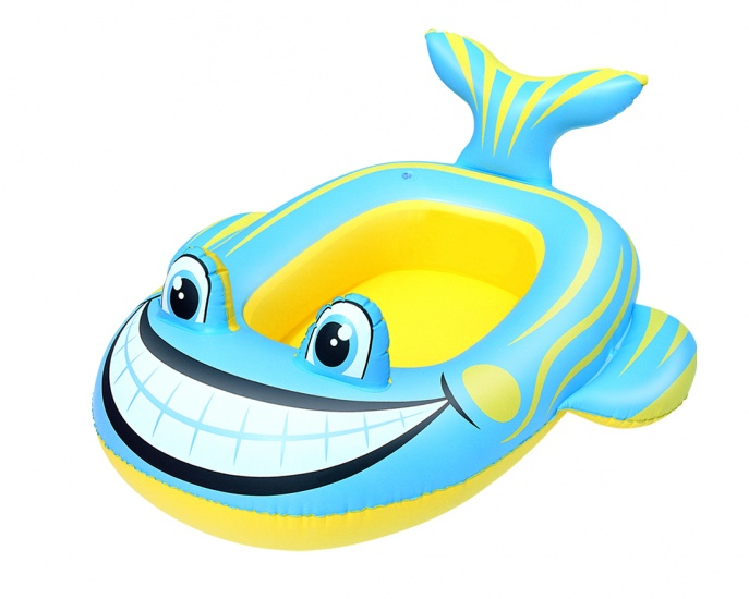 Bestway Opblaasboot Vis 107 x 98 cm Geel/Blauw