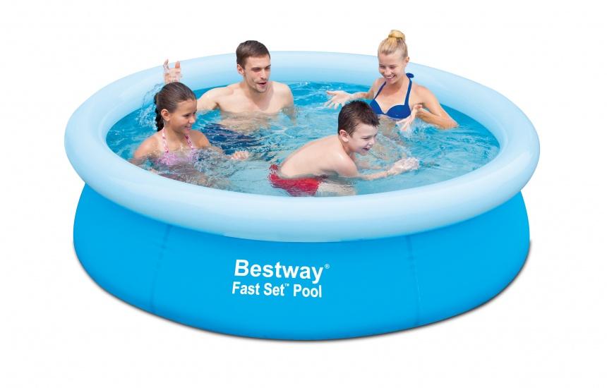 Bestway Opblaaszwembad Fast Rond Blauw 198 x 51 cm