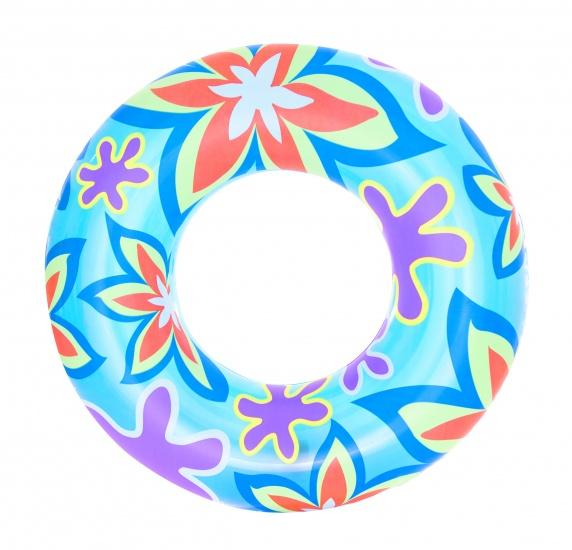 Bestway Zwemband Desginer Bloemen 76 cm Blauw
