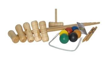 BEX Croquetset 6 Spelers Berkenhout 76cm