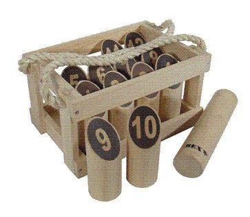 BEX Number Kubb Original Rubberhout in Houten Kist