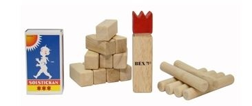 BEX Mini Kubb Rubberhout