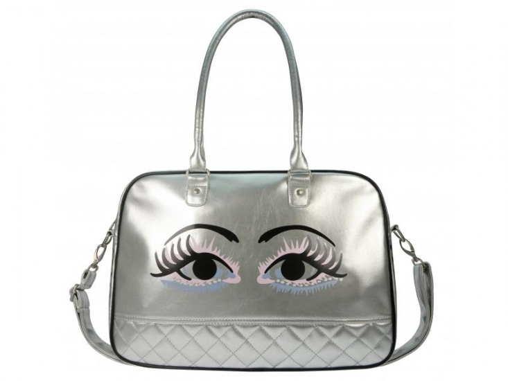 BFF Got my Eye on you Schoudertas zilver 10 liter