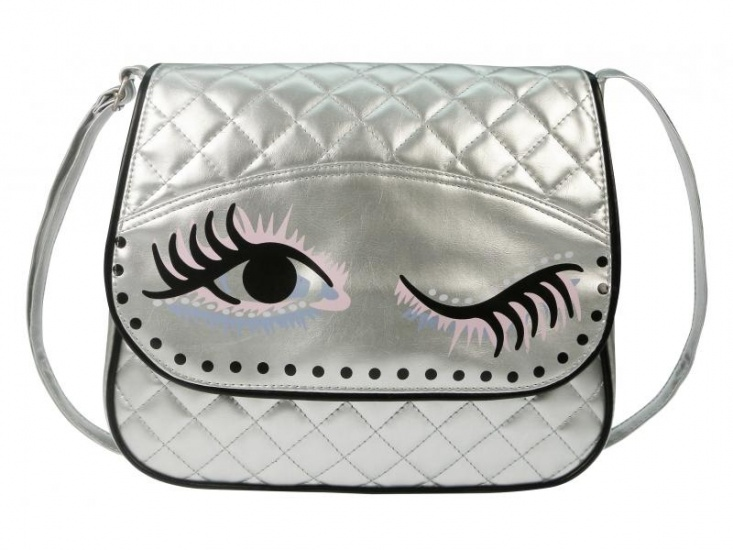 BFF Got my Eye on you Schoudertas Zilver 10liter