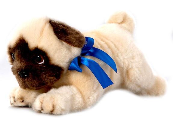 BIColini Knuffelhond Liggende Mops Pup 26 cm
