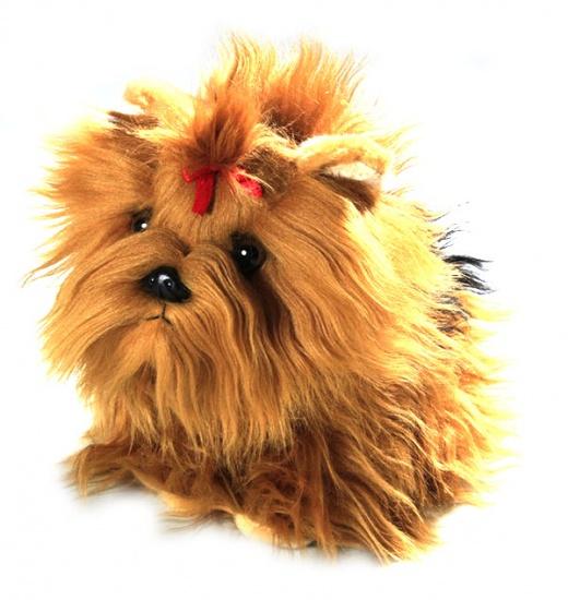 BIColini Knuffelhond Zittende Yorkshire Terrier Pup 22 cm