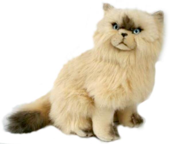 BIColini Knuffelpoes Zittende Siamese Kat 30 cm