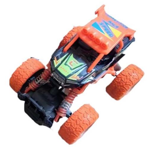Big Wheels World crossauto jongens 11,5 cm staal oranje