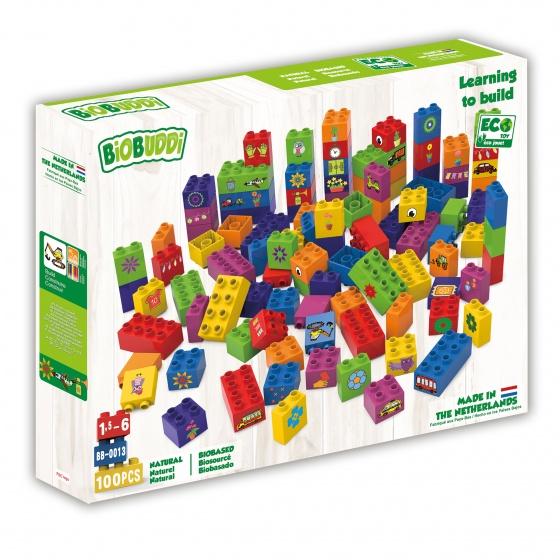 BiOBUDDi leren bouwen met blokken 100 delig (BB 0013)