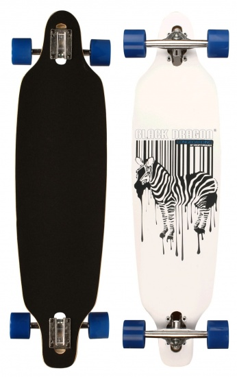 Black Dragon Longboard 36 Inch Drop Through Jungle Fever Wit