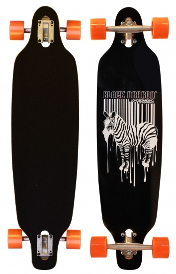 Black Dragon Longboard 36 Inch Drop Trough Jungle Fever ZW.